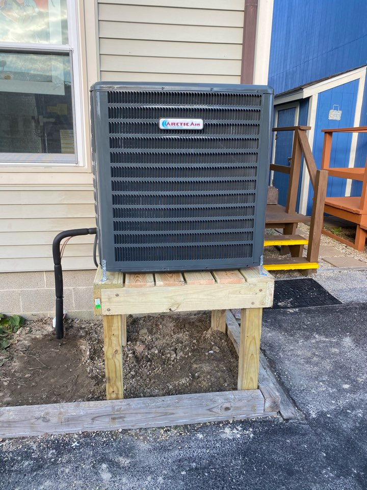 Installing a new 16 seer Arctic Air system in a multi unit town home in Ocean City MD