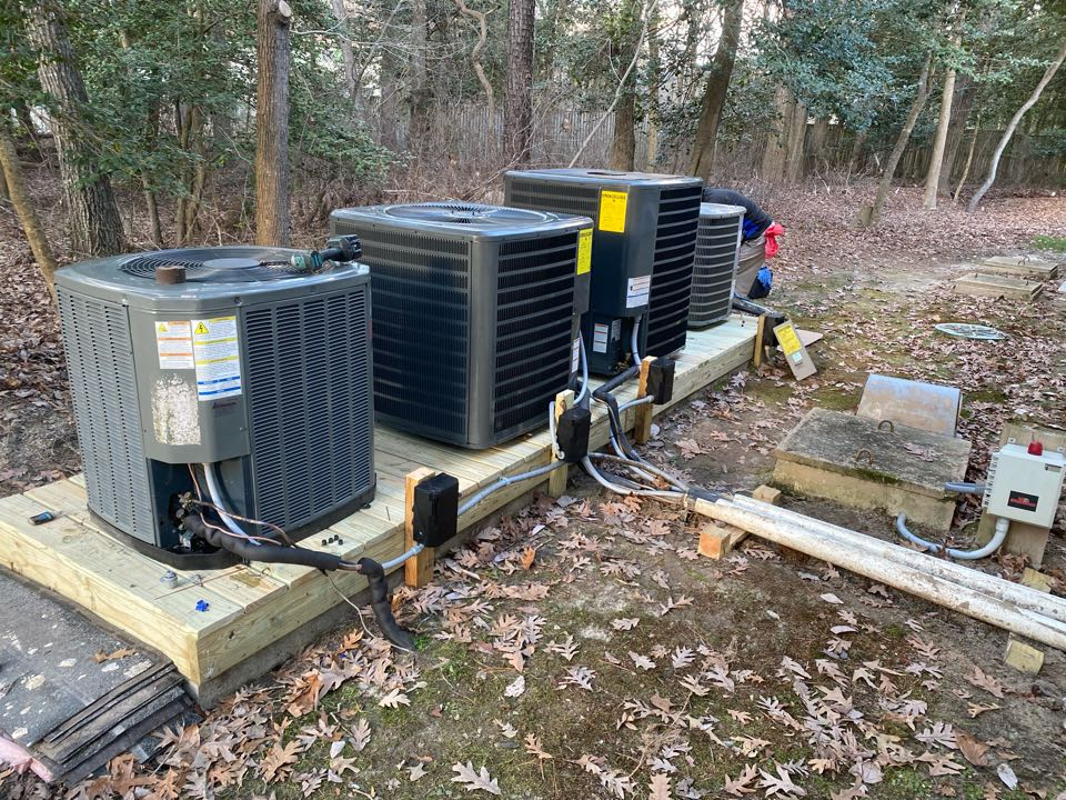 Installing new Arctic Air 16 seer systems in a single family home in Frankfort DE