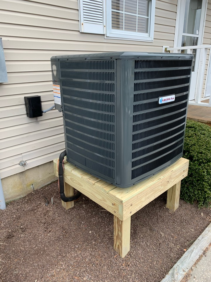 Installing a heat pump system for a family in ocean city.