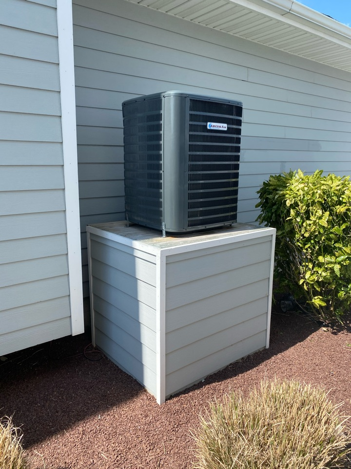 Installing a new Arctic Air heat pump system in a single family home in Ocean City MD