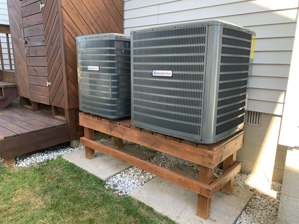 Installing 2 arctic air heat pumps for a couple in ocean city.