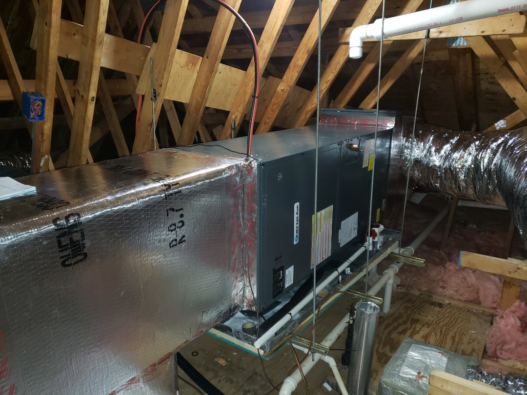 Berlin, MD - Installing a new Arctic  Air 16 seer system in a single family home in Berlin Maryland