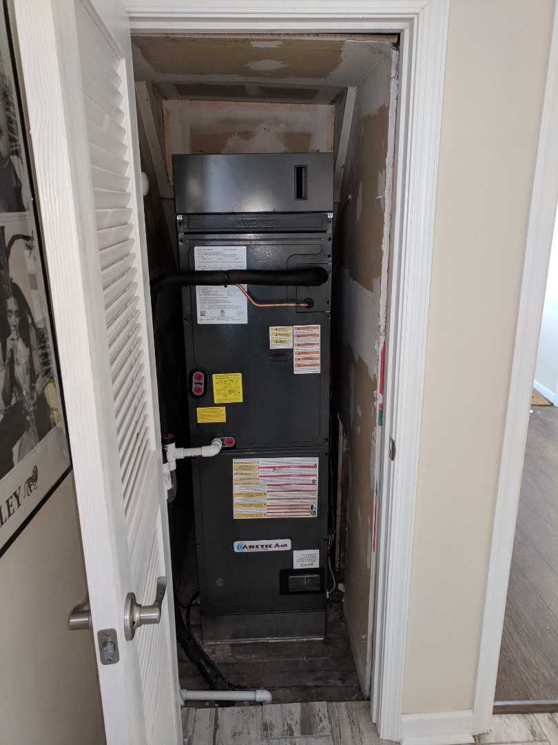 Berlin, MD - Installed Arctic Air heat pump system in a customer's home in Berlin MD, with all new ductwork, sealed system, WiFi thermostat