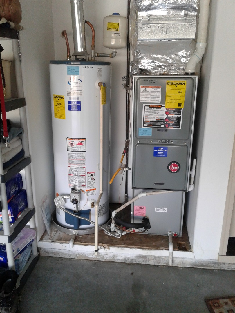 Nampa, ID - Tune Up / Maintenance on a 92% Efficient Rheem Natural Gas Furnace and a Rheem Water Heater