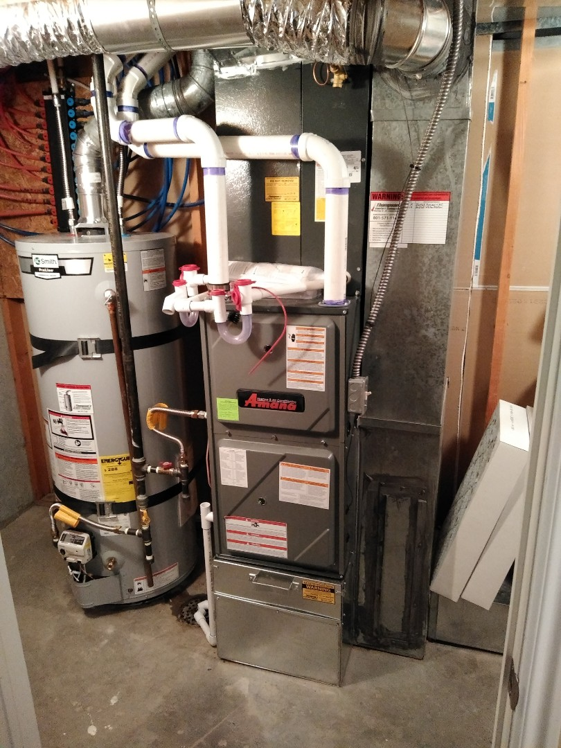 Draper, UT - Replacement furnace and AC with new high efficiency Amana system