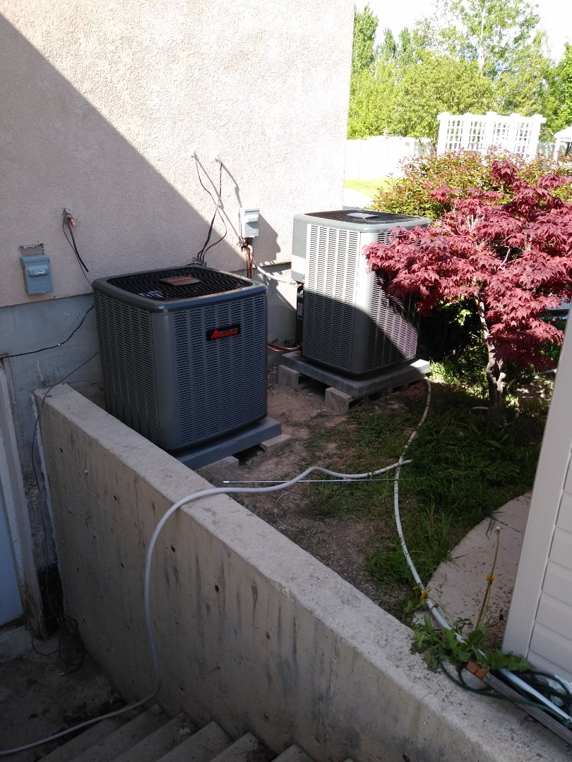 Draper, UT - Replacing 2 air conditioners with new high efficiency Amanas