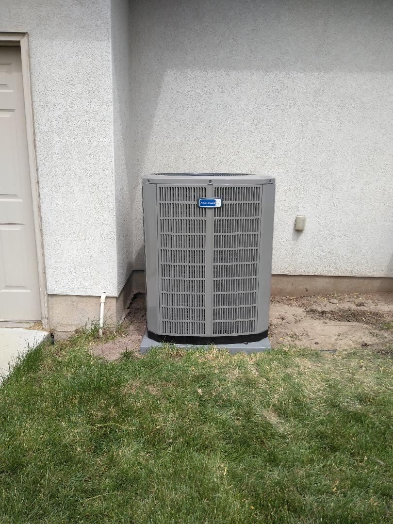 Riverton, UT - Installed new American standard AC