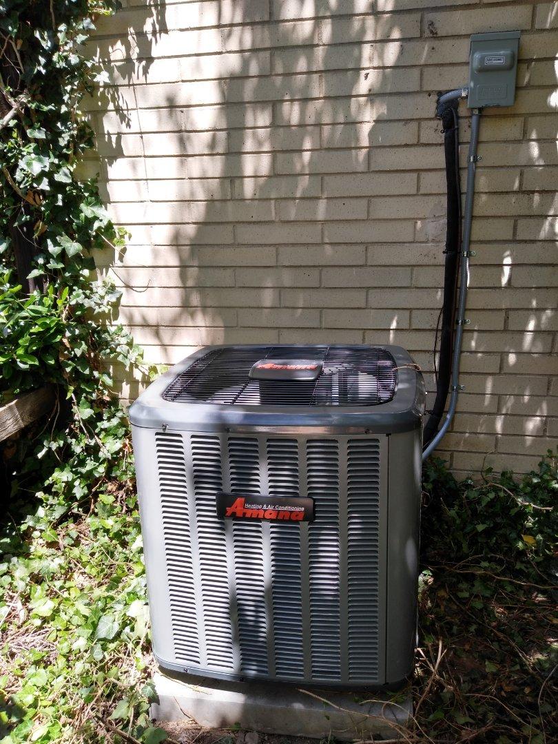 Cottonwood Heights, UT - Installed new Amana AC