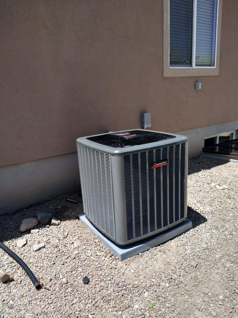Riverton, UT - Install new Amana high efficiency air conditioning