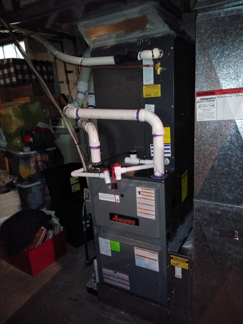 Salt Lake City, UT - Install furnace and AC with new Amana furnace and AC system