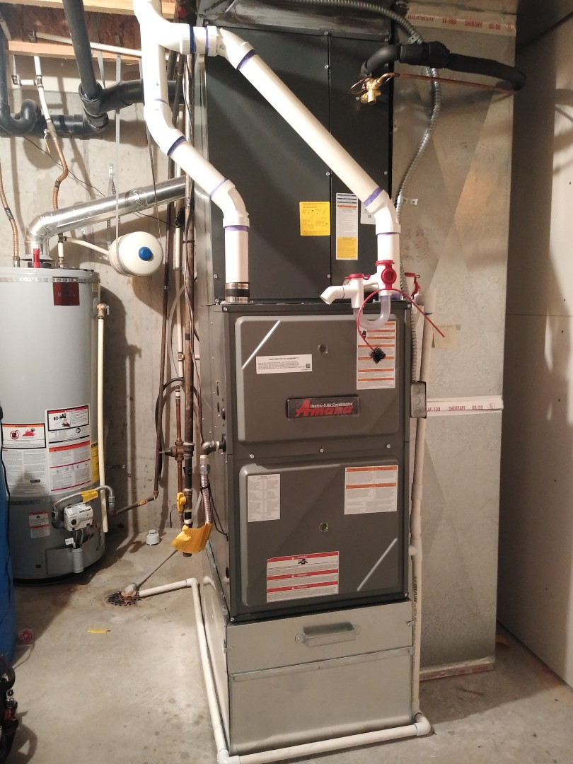 Riverton, UT - Installed new Amana furnace and Ac