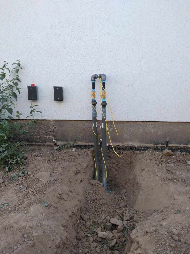 Riverton, UT - Installed 2 gas stub outs for a fire pit and gas grill