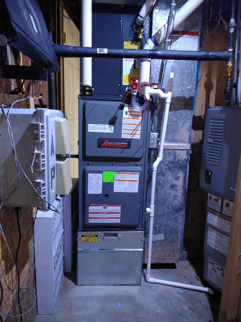 Kearns, UT - Installed new Amana furnace and added on Ac