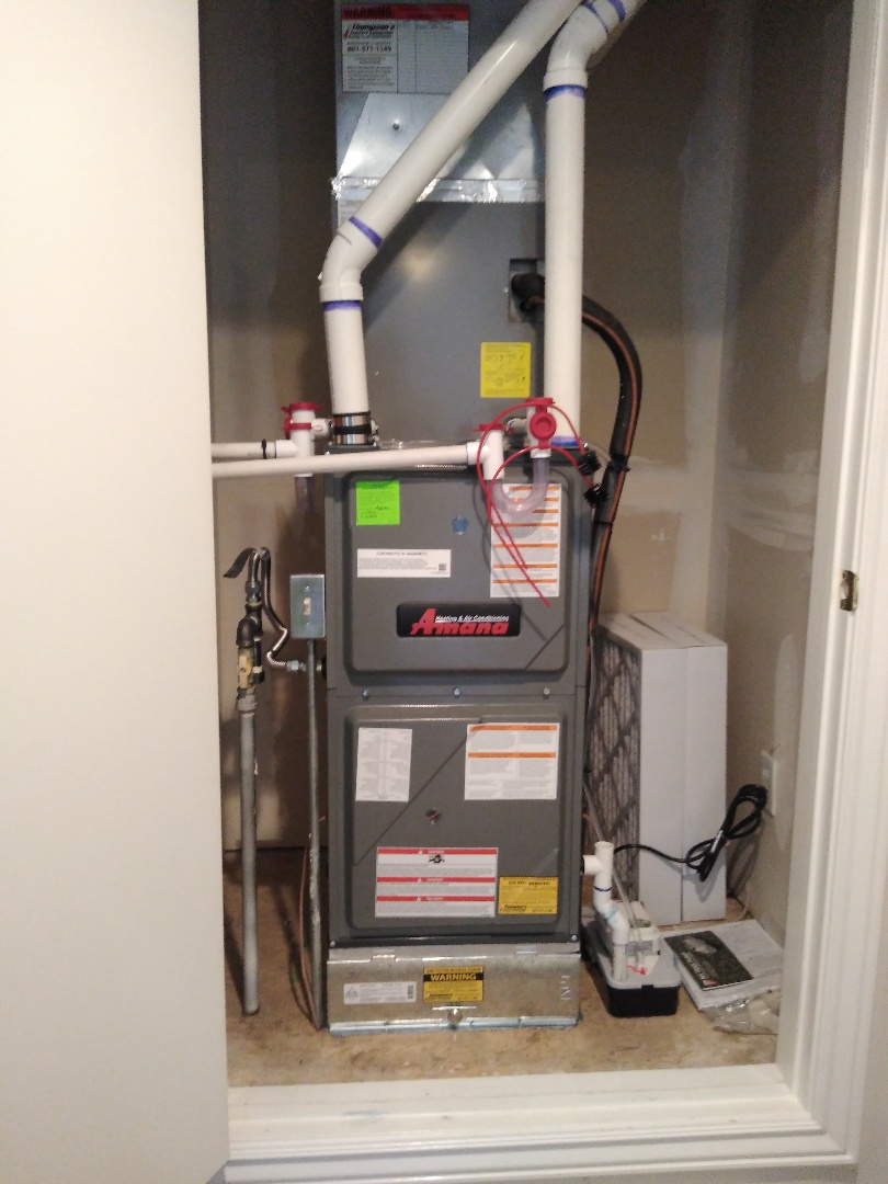 West Jordan, UT - Installed new 96% furnace