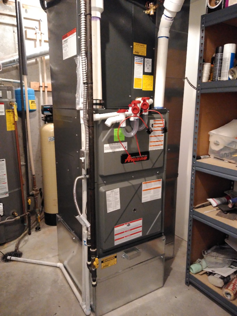 Installed new furnace and AC