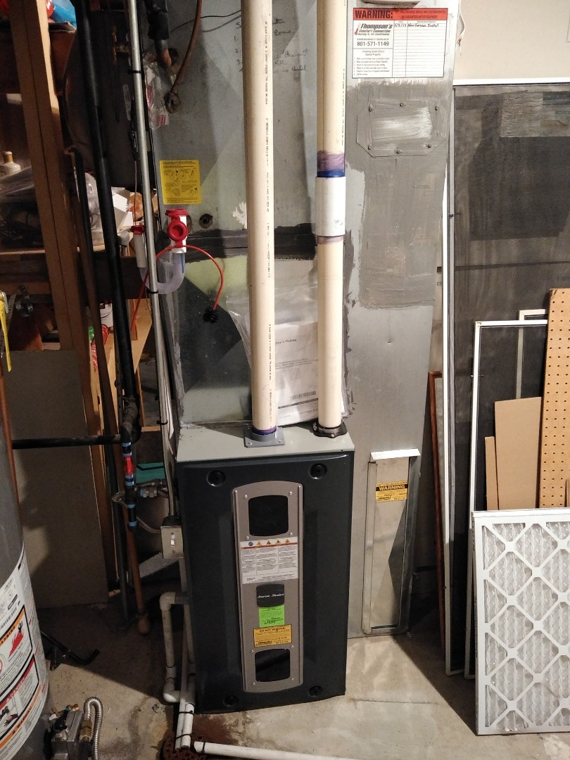Sandy, UT - Furnace replacement call. Install new high efficiency American standard furnace