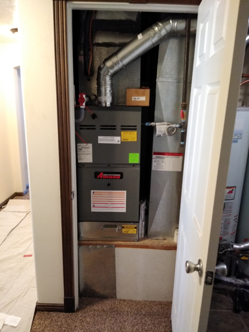 Herriman, UT - Furnace replacement call install new Amana furnace
