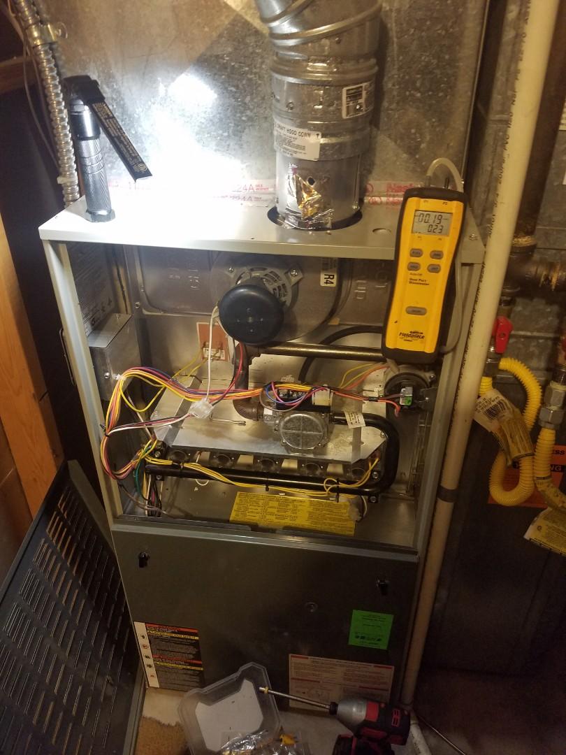 Salt Lake City, UT - Furnace tuneup on Trane furnace