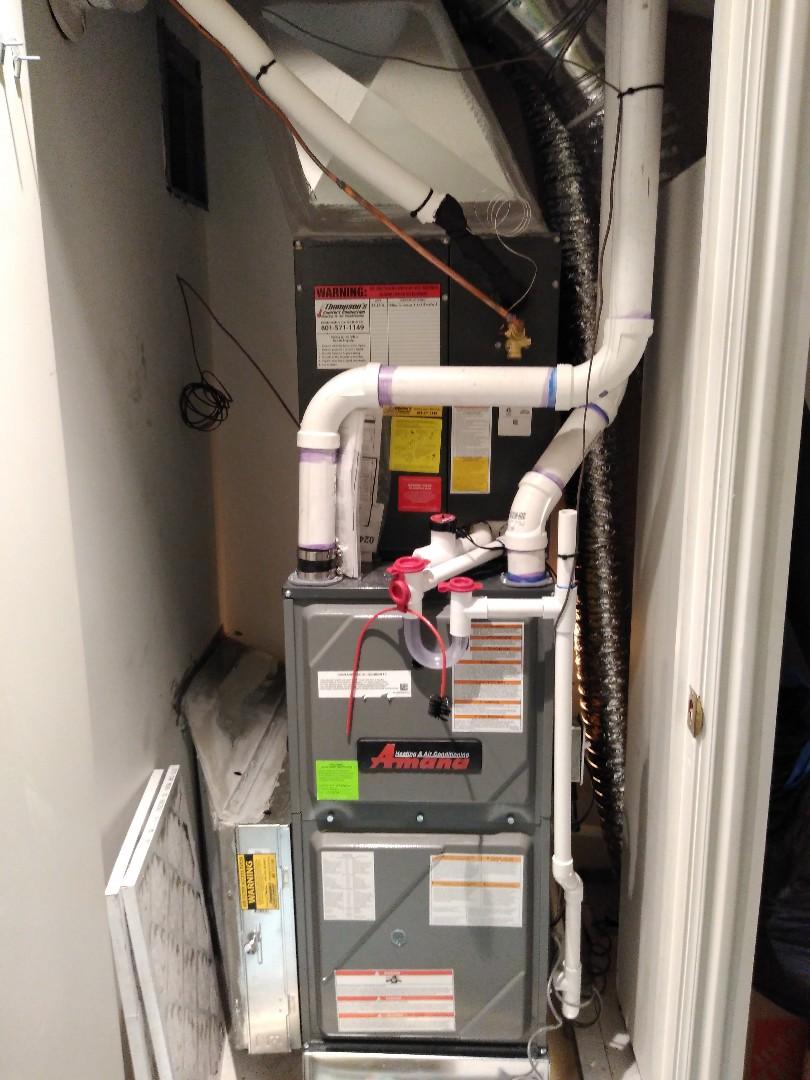 Salt Lake City, UT - Installed new Amana furnace and AC