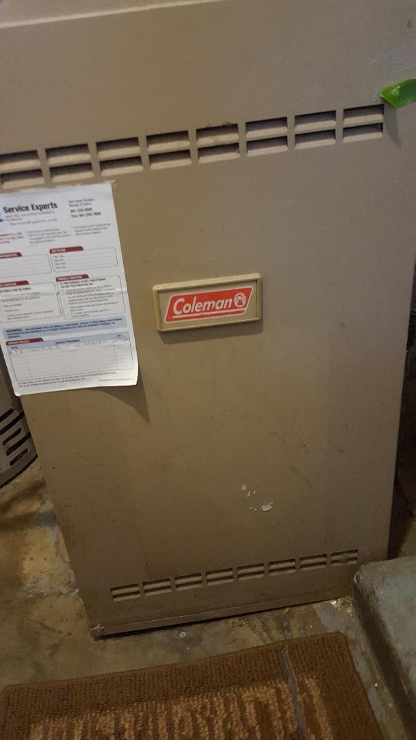 Midvale, UT - Repair of a Coleman furnace