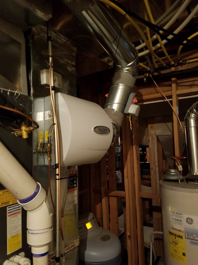 South Jordan, UT - Humidifier repair on Amana furnace