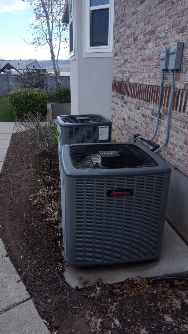 South Jordan, UT - Tune up on 2 Amana air conditioners