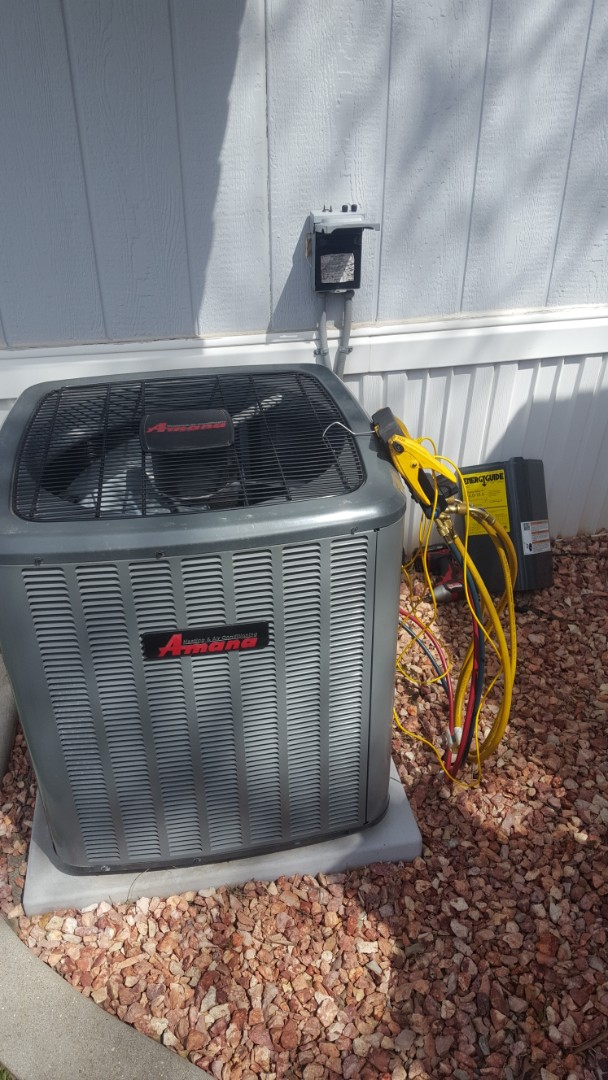 Taylorsville, UT - A/C tune up on an Amana air conditioner