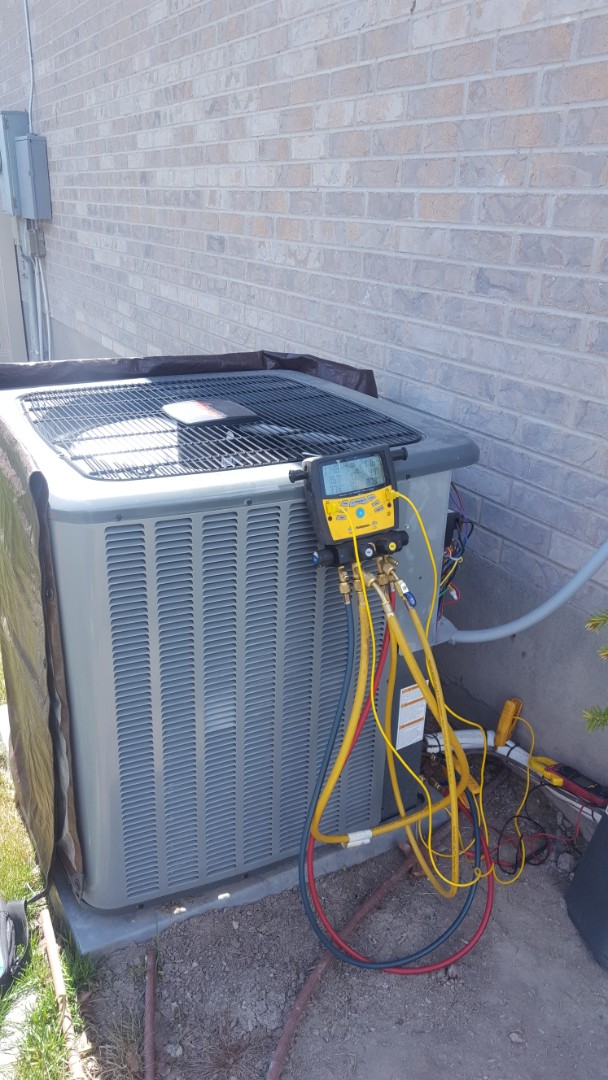 Riverton, UT - A/C tune up on a Amana air conditioner