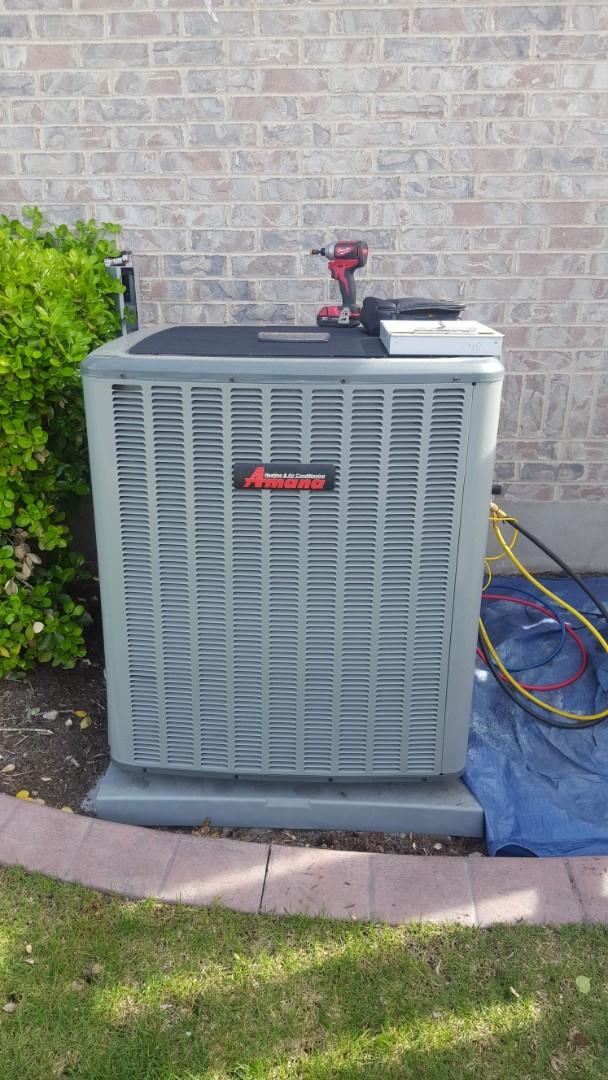 South Jordan, UT - New amana air conditioner start up