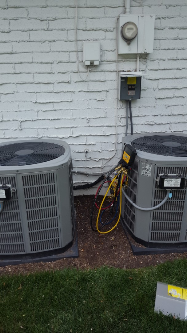 Holladay, UT - 2 A/C tune ups on American standard air conditioners