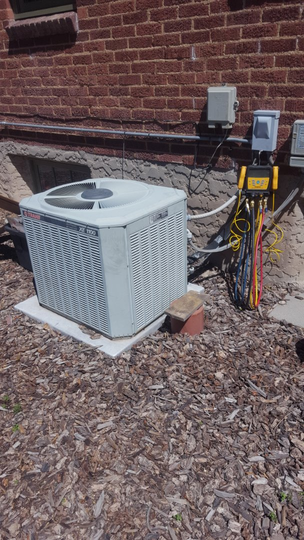 Holladay, UT - A/C tune up on a Trane air conditioner