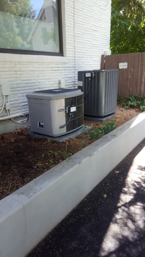 Salt Lake City, UT - A/C tune up on a Amana air conditioner and a Carrier air conditioner