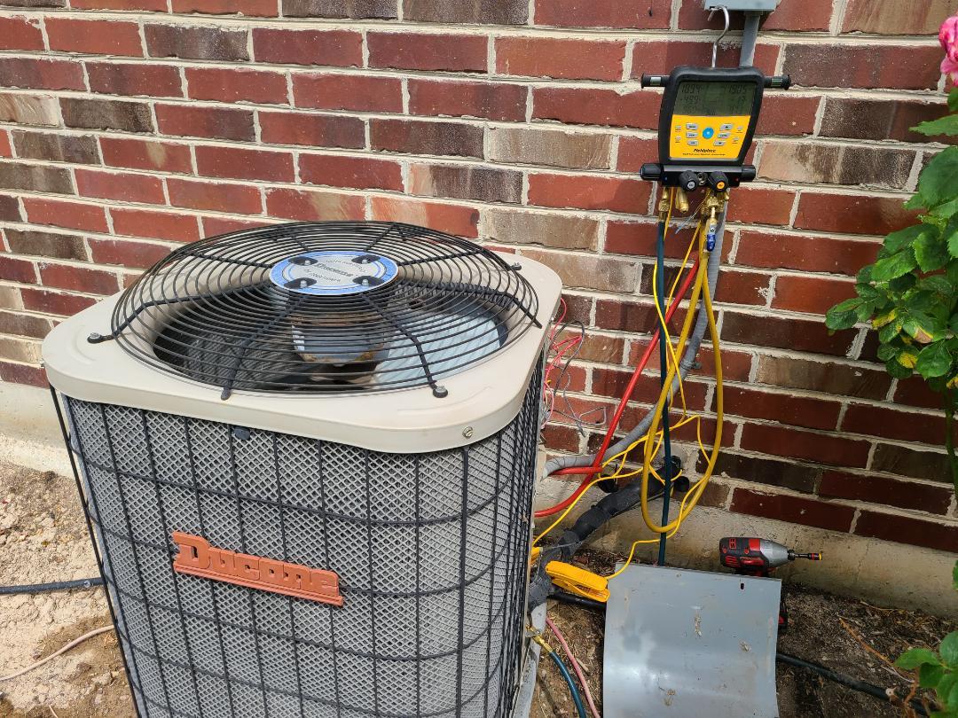 Air conditioning tuneup on Ducane air conditioner