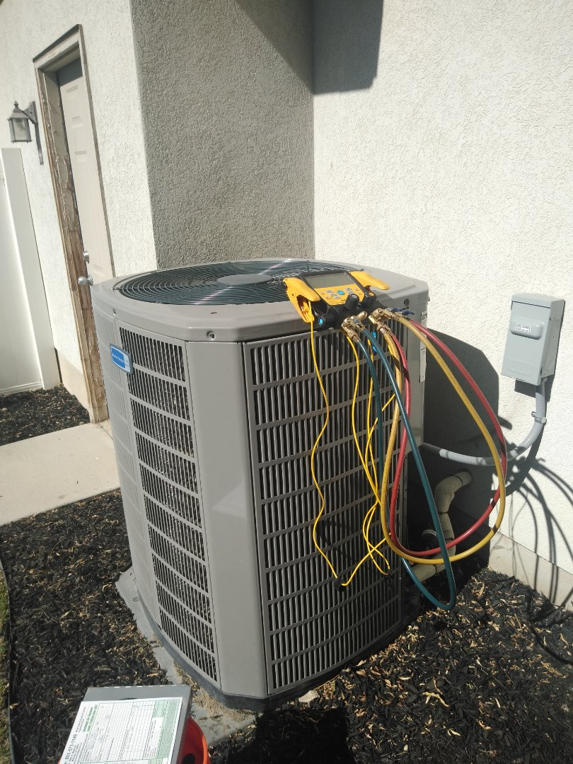 Riverton, UT - Air conditioning tune-up on American Standard air conditioner