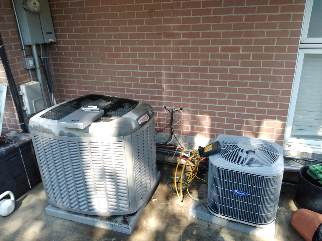 Cottonwood Heights, UT - Air conditioner tune-ups on one Carrier air conditioner and one Lennox air conditioner