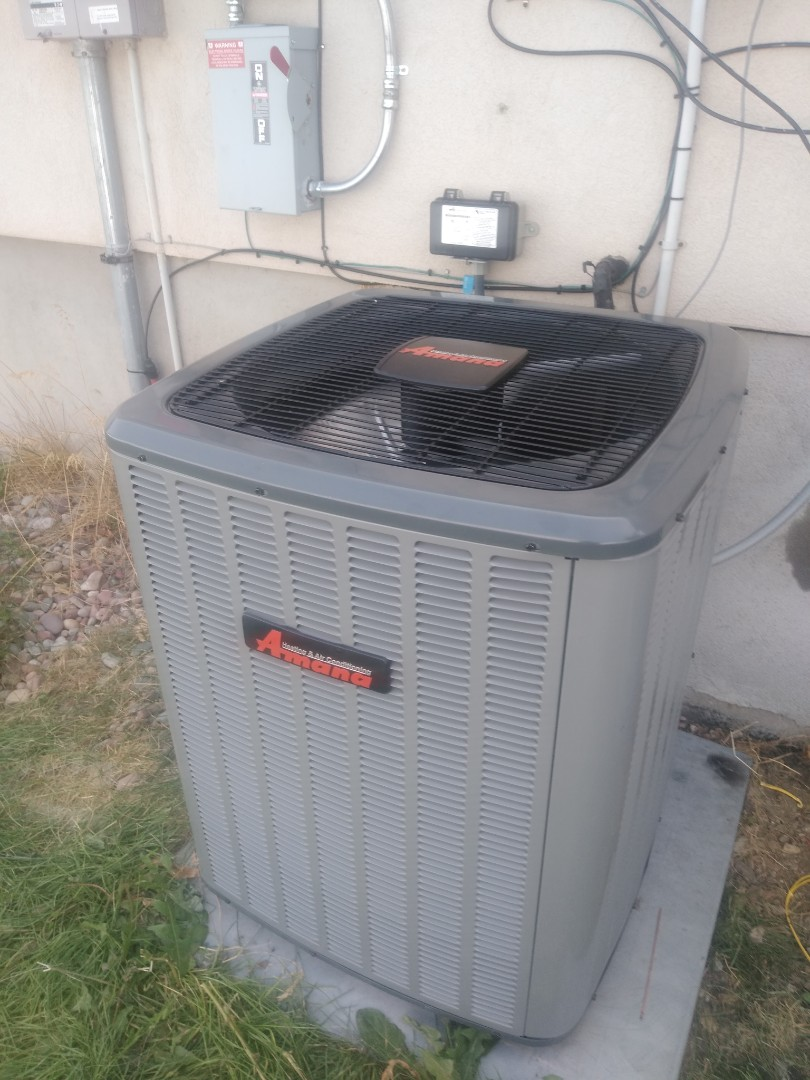 West Jordan, UT - Air conditioner tune-up on Amana air conditioner and furnace tune-up on Trane furnace