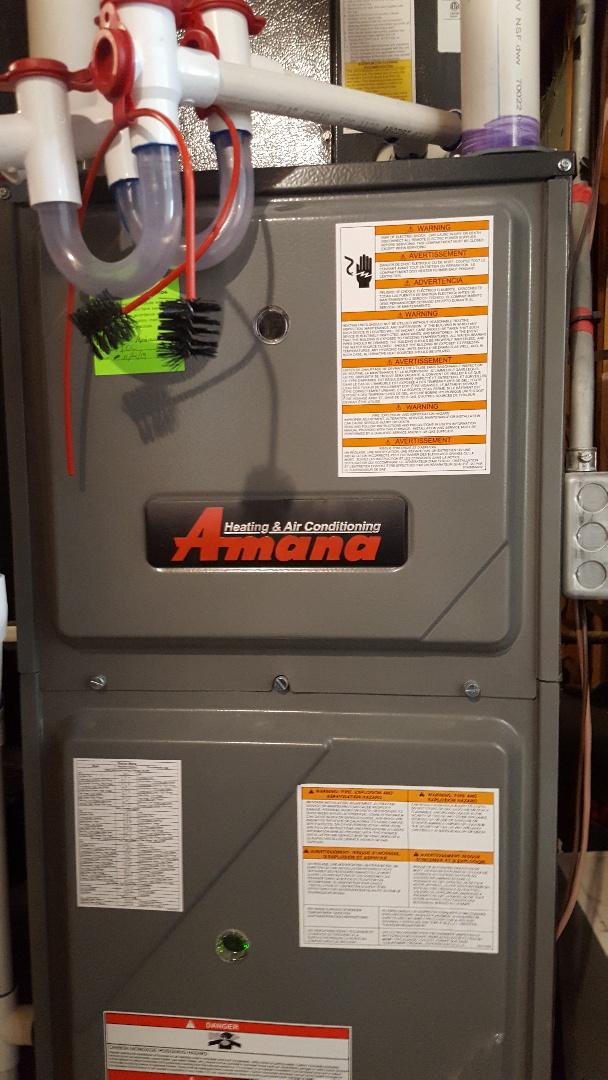 Taylorsville, UT - Furnace tune up on a Amana furnace