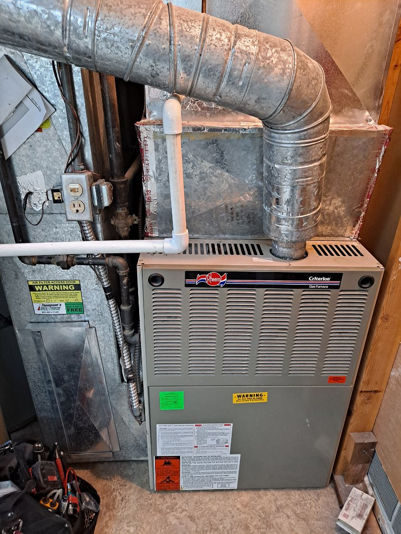 Sandy, UT - Furnace repair on Rheem furnace