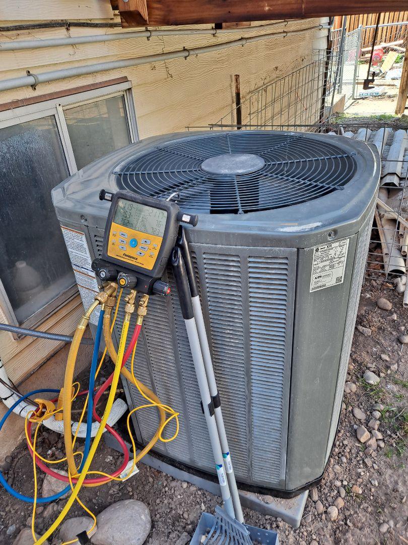 Kearns, UT - Air conditioner start-up on Trane Air conditioner