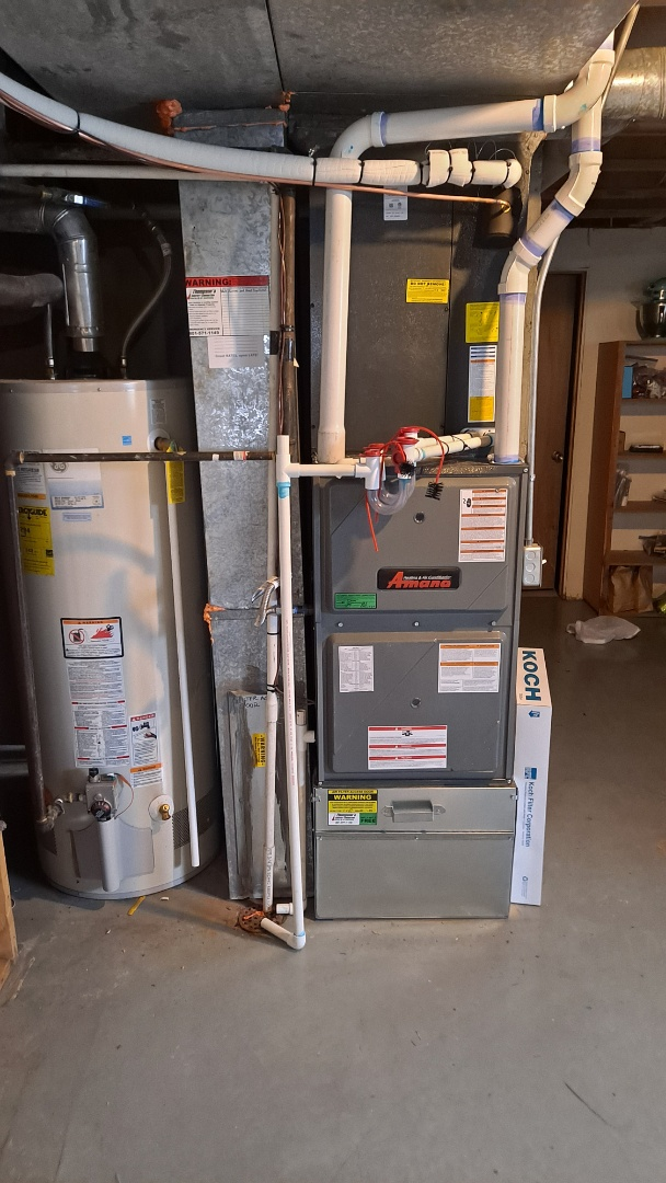 Furnace replacement call. Install Furnace and heat pump duel fuel system