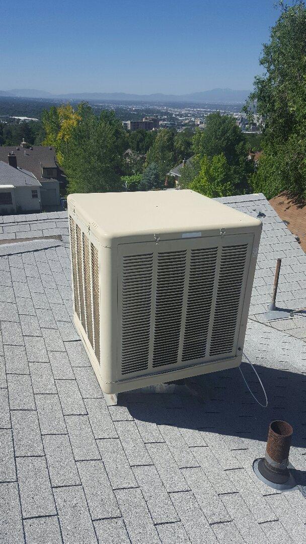 Salt Lake City, UT - Swamp cooler start up on aspen cooler