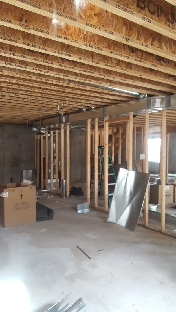 Midvale, UT - New construction job. Installing duct work, zoning, and amama high efficiency furnace and air conditioner.