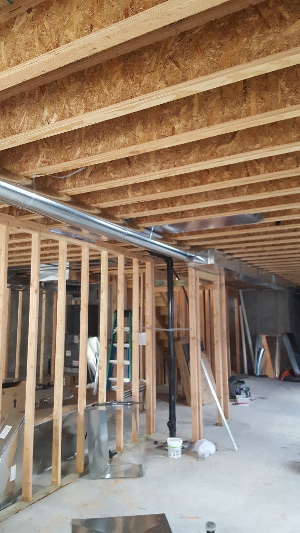 Sandy, UT - Getting close to finishing the duct system on an amana zoned system
