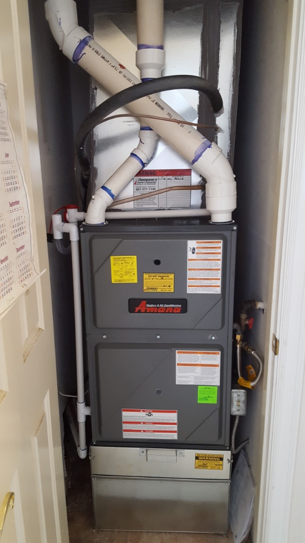Cottonwood Heights, UT - Installed a 96% AMANA furnace.