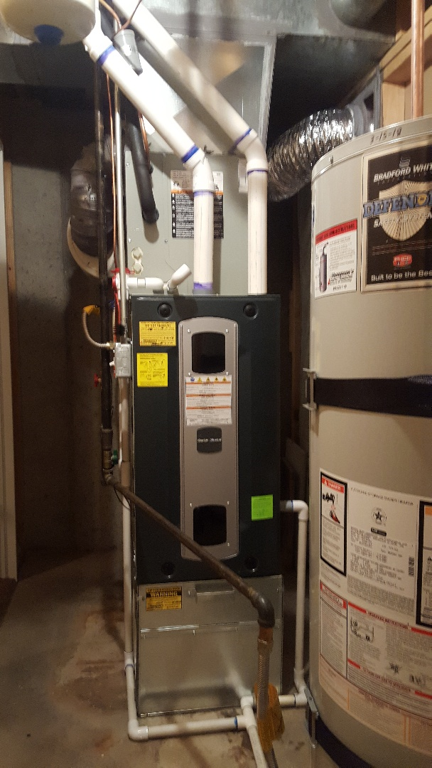 West Jordan, UT - Finishing new american standard 96% furnace and 16 seer air conditioner.