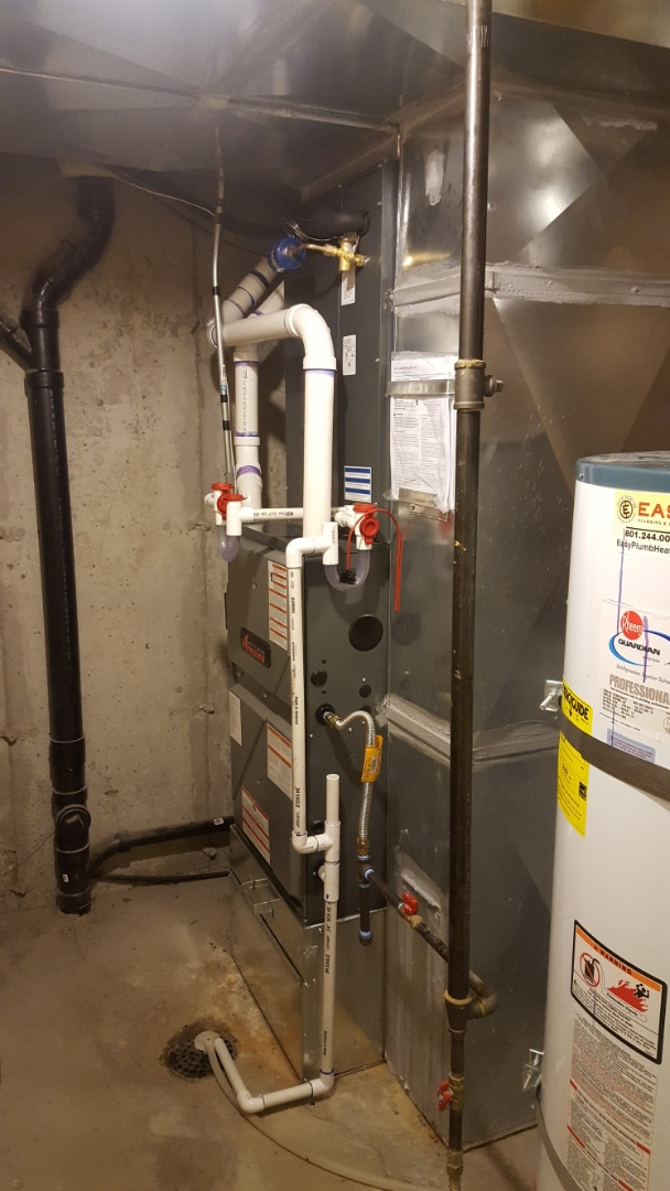 West Jordan, UT - Installing a new amana high efficiency furnace and 16 seer air conditioner.