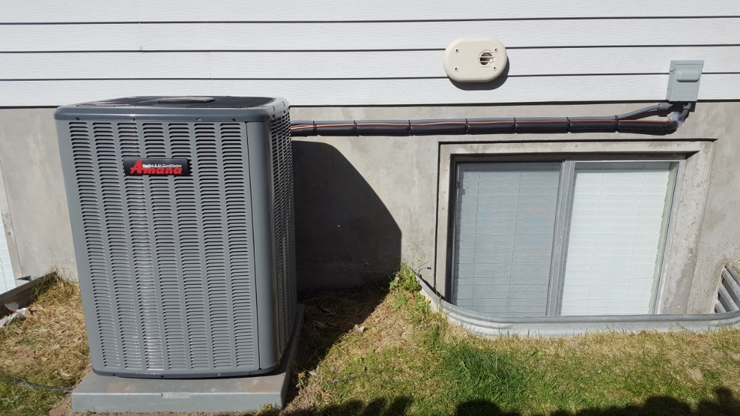 West Jordan, UT - New amana air conditioner and attic fan install.