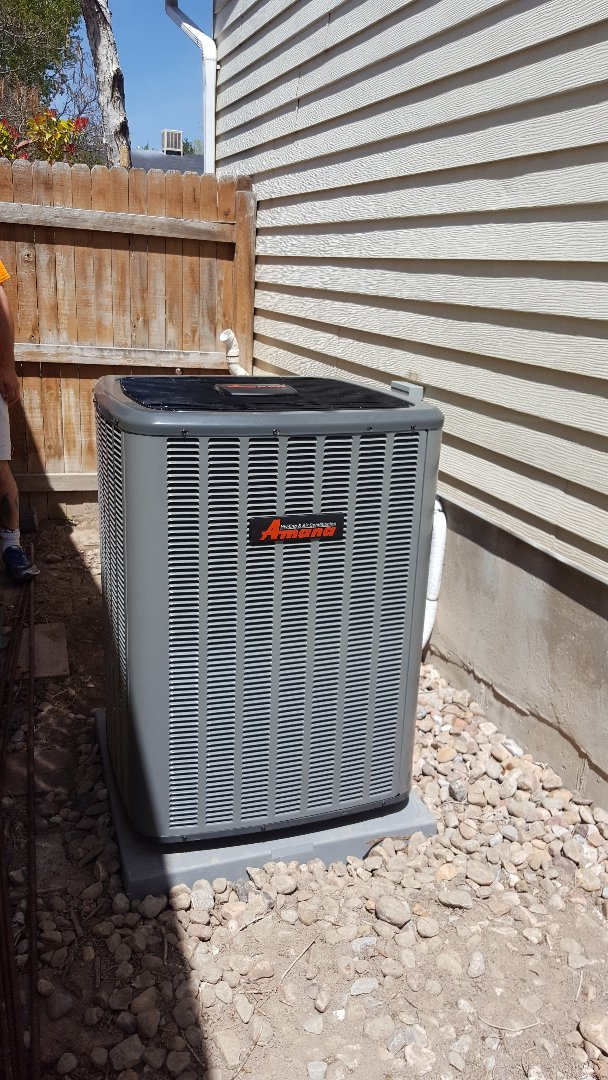 West Jordan, UT - New amana air conditioner install.