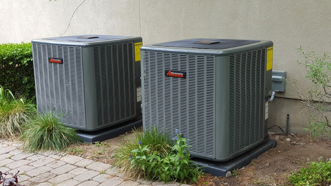 Cottonwood Heights, UT - Finishing up 2 amana high efficiency furnaces and air conditioners.