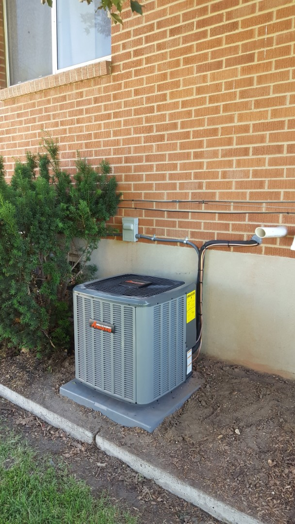Murray, UT - New amana air conditioner installed on existing lennox furnace.